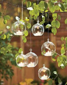 """Ensemble de 6 Dia 3,15"""" verre bougies votives, pendaison porte-lumignon terrarium pour chandelier mariage, fournitures de mariage, décoration de parties"""