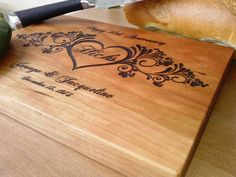 Personalized Cutting Board by Ehandcarved on Etsy, $35.00