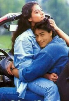 Shah Rukh Khan and Kajol. This is so cute!!!