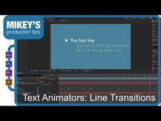 After Effects Text Animators: Line Transitions - YouTube