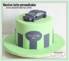 Atelier de tartas Tartas fondant personalizadas cumpleaños decoradas coche