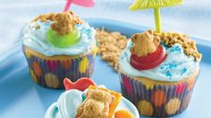 Teddy-at-the-Beach Cupcakes Recipe