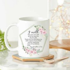 Mothers Day Sayings - Thank You Mother In Law Flower Mug This thank you mother in law flower mug is the greatest to give for your future inlaws. she'll love this meaningful present so much. This Florist cup will be her new favorite way to drink coffee and tea. It is so perfect to express the passion and unique touch to their drinkware. I Love You Son, Mother In Law, Mom Day, Best Mom, Coffee Drinks, Drinkware, Diy Gifts, Mothers, Ceramics