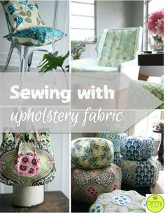 I love the versatility of applications for quilting cotton. But sometimes home decor fabric is a better choice for your project. There are many advantages.