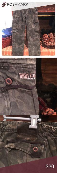 Harley Davidson women's camo cargo pants Only worn once. Camo cargo jeans by Harley Davidson. Harley-Davidson Jeans Straight Leg