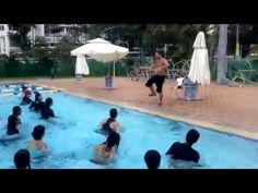 Aqua Zumba in SINGAPORE with ZES Richard Gormley - easy Carlos Vives Cumbia Track - YouTube