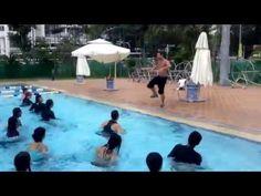 Aqua Zumba in SINGAPORE with ZES Richard Gormley - easy Carlos Vives Cumbia Track - YouTube