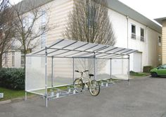 Economy Aluminium & Steel 5 Space Bicycle Shelter