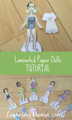 Laminated Paper Dolls Tutorial - make your paper dolls durable Diy Paper, Paper Crafts, Crafts To Make, Crafts For Kids, Little Cotton Rabbits, Operation Christmas Child, Doll Tutorial, Diy For Girls, Paper Toys