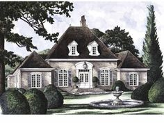 Eplans French Country House Plan - Lafayette - 2717 Square Feet and 3 Bedrooms from Eplans - House Plan Code HWEPL08571