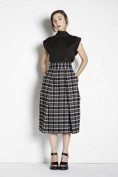 Perfect for Petites | Adela Mei Petite Clothing  Boutique | Plaid Midi Skirt