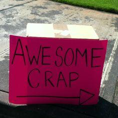 Garage sale sign, made me go look!!!