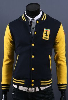 HOLY CRAP THATS AWESOME!!!black and yellow varsity jacket