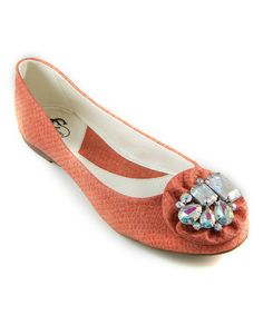 Take a look at this GC Shoes Coral Stacie Flat by GC Shoes on #zulily today!