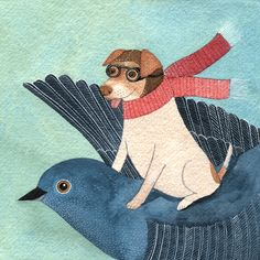 Flying Morran - a Danish Swedish Farm Dog - follow Morran's real adventures on flickr | Genine's Art Blog