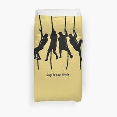 Sky is the limit! Duvet cover for warm nights. Climbers, rock, mountain. For you and your friends