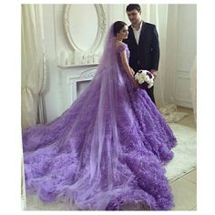 Purple Love, All Things Purple, Purple Lilac, Shades Of Purple, Purple Dress, Purple Stuff, Purple Accents, White Dress, Purple Wedding Gown