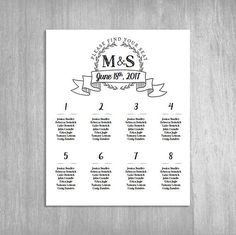 Numerical Or Alphabetical Golden Sparkle Wedding Seating Chart
