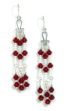 03-04-895 Miyuki and Crystal Chandelier Earrings More