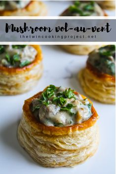 Mushroom vol-au-vent - Crispy glossy puff pastry topped with creamy garlicky mushrooms # - Puff Pastry Appetizers, Savory Pastry, Appetizer Recipes, Recipes With Puff Pastry, Brunch Appetizers, Pastries Recipes, Cabbage Rolls Polish, Cabbage Rolls Recipe, Vegetarian Cabbage Rolls