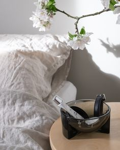 Big Flowers, Good Company, Natural Linen, Frosted Glass, Bedside, Glass Vase, Studio, Interior, Collection