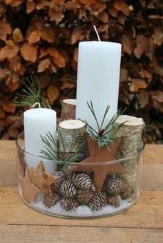 72 Trend Simple Rustic Winter Christmas Centerpiece - Simple And Popular Christmas Decorations, Table Decorations, Christmas Candles, DIY Christmas Cente - Diy Christmas Decorations For Home, Christmas Candles, Noel Christmas, Christmas Centerpieces, Rustic Christmas, Winter Christmas, Christmas Crafts, Christmas Ornaments, Nordic Christmas