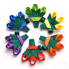 Perfect for any day of the year, our Spring Bouquet Hair Bow Clips are handmade to order with all of the ribbon edges heat sealed to prevent Ribbon Hair Clips, Flower Hair Bows, Hair Ribbons, Ribbon Art, Diy Hair Bows, Ribbon Crafts, Ribbon Bows, Ribbon Barrettes, Baby Girl Bows