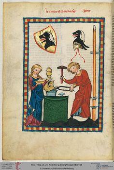 Cod. Pal. germ. 848: Cod. Pal. germ. 848 Große Heidelberger Liederhandschrift (Codex Manesse) (Zürich, ca. 1300 bis ca. 1340)
