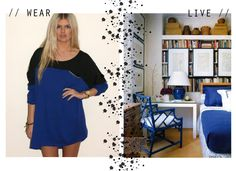 wear it//live it: cobalt + black, via maple and shade