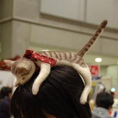 Homemade Felted Cat Headband