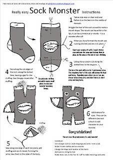 They actually show you how to make these? Be afraid socksy friends. ;) #sockmonster