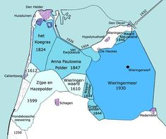 Polders in de kop van Noord Holland Holland Map, Old Maps, Topographic Map, European History, Historical Maps, Geology, Old Photos, Kids Learning, Netherlands