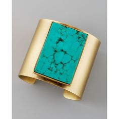 Kelly Wearstler Turquoise Cuff found on Polyvore