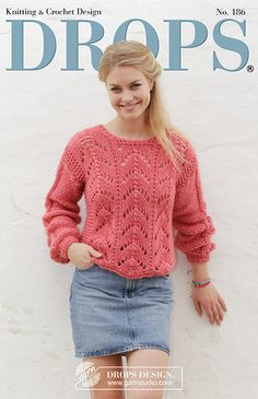 A soft and feminine collection of knitted and crochet sweaters, shawls, cardis and more, with delicate wave and lace patterns in off white, blues and coral.