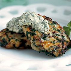 Herbed Fish Cakes with Green Horseradish Sauce