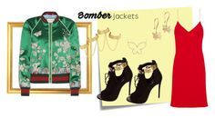 """""""Reckless"""" by cats10-1 ❤ liked on Polyvore featuring Post-It, Calvin Klein Collection, Gucci, Giuseppe Zanotti, House of Harlow 1960 and bomberjackets"""