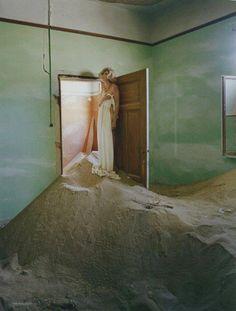 Tim Walker, White Mischief, British Vogue, May 2011. Model: Agyness Deyn