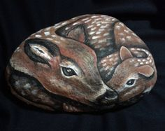 Garden stone/Painted rocks / Painted stone / by MeloArtGallery