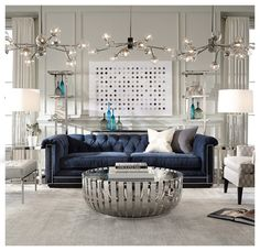 Blue Sofa -see art and accent pieces BARRYMORE SOFA<BR>[available online and in stores]