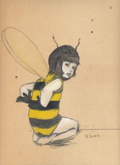 This reminds me of the child in the bumble bee costume on Blind Melon's first album.