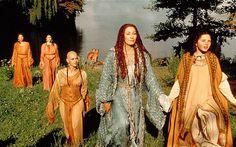 The Mists Of Avalon (2001) by Uli Edel and Costume design: James Acheson and Carlo Poggioli - Vivianne and Morgaine
