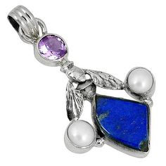Grab the alluring Honey Bee pendant crafted with sterling silver and lapis lazuli exclusively available at Jewelexi!! #jewelexi #lapis_lazuli #silver_pendant #honey_bee_pendant