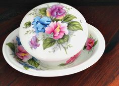 Sale Royal Stafford Fine Bone China Trinket Box  and Soap Dish Made Exclusively for Victoria's Secret