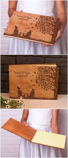 Custom engraved Adirondack Chairs Retirement guest book 2