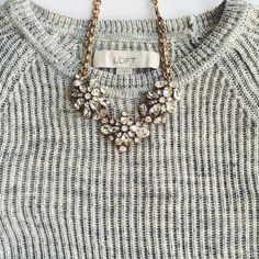 HP Ann Taylor LOFT grey cozy sweater Cozy LOFT sweater!! Cotton blend LOFT Sweaters Crew & Scoop Necks