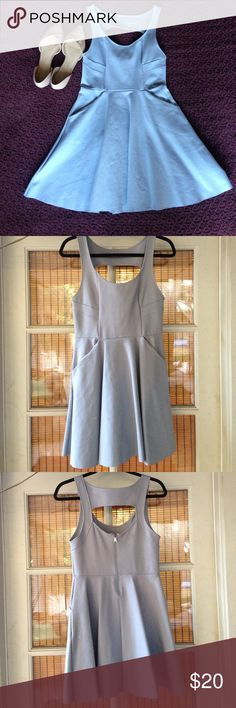 "*BOGO 50% OFF* UO Structured Skater Dress thick ""scuba"" material (65% rayon, 31% nylon, 4% spandex), pockets (!!), zip closure in the back with a small cutout, and beautiful seam pattern to accent the bust. Worn once! 💫open to reasonable offers💫 Kimchi Blue Dresses Mini"