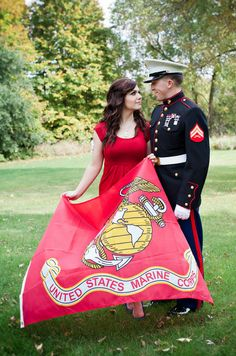 This but with a navy glad while he's in his dress blues!:))