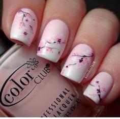 Gradient cherry blossom