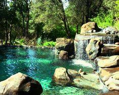 """Natural Pool Piscinas sostenibles - Filtración vegetal El principio de una piscina biológica reside en su sistema de mantenimiento y de filtración que se efectúa por medio de plantas. Según el paisajista Fernando Pozuelo: """"El filtrado que realiza la vegetación es natural, no interviene ningún aditivo que pueda ser peligroso para la piel, los ojos o la salud. Además, no genera residuos dañinos"""". I need a pool like this! It looks so calm and relaxing!natural pool/piscine naturelle - If I ever…"""
