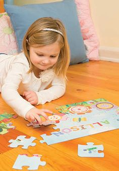 Personalized puzzles perfect for ages 3 to Personalized Books For Kids, Personalized Puzzles, Name Puzzle, Cute Diy Projects, Cute Diys, Inspiration For Kids, Easy Crafts For Kids, Kid Names, Fine Motor Skills